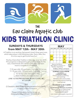 939ad796 ... a kids triathlon clinic designed to get your kid ready for the race,  meet frends who will be at the race and learn how to complete in a  triathlon!
